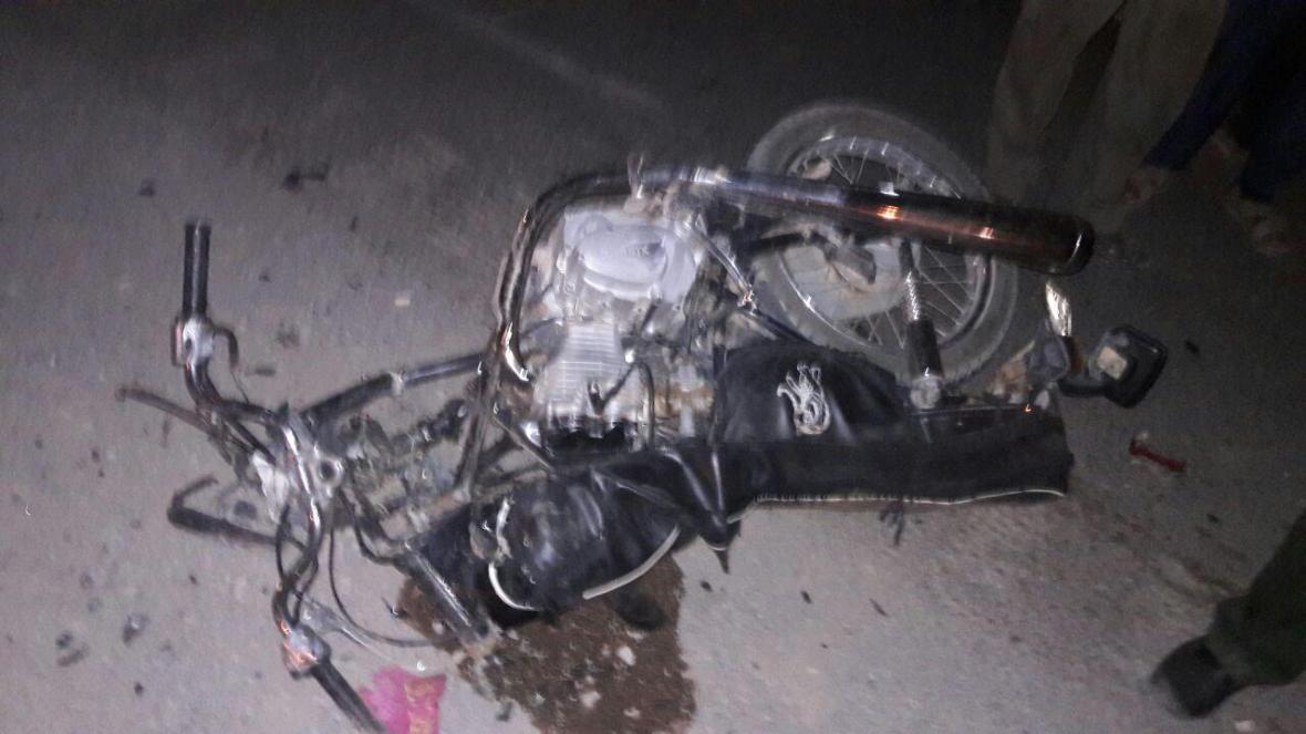 مرگ موتور سوار براثر اشتباه راننده کامیون