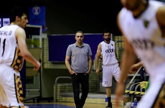 سرمربی تیم بسکتبال اکسون: بازی با مهرام فشار زیادی دارد
