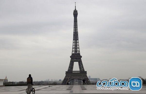 کاهش شدید شمار بازدیدکنندگان برج ایفل