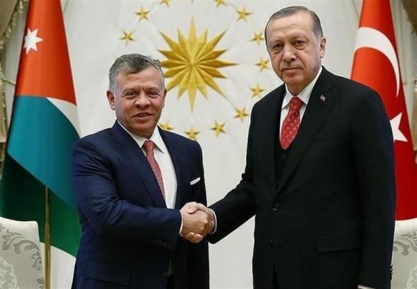 گفت وگوی تلفنی رئیس جمهور ترکیه و پادشاه اردن