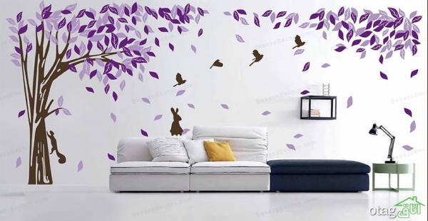 نصب انواع استیکر دیواری برای زیبایی منازل مسکونی