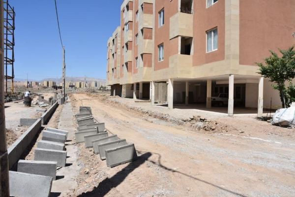 اجرای محوطه سازی مجتمع مسکونی مهر 149 گلبهار